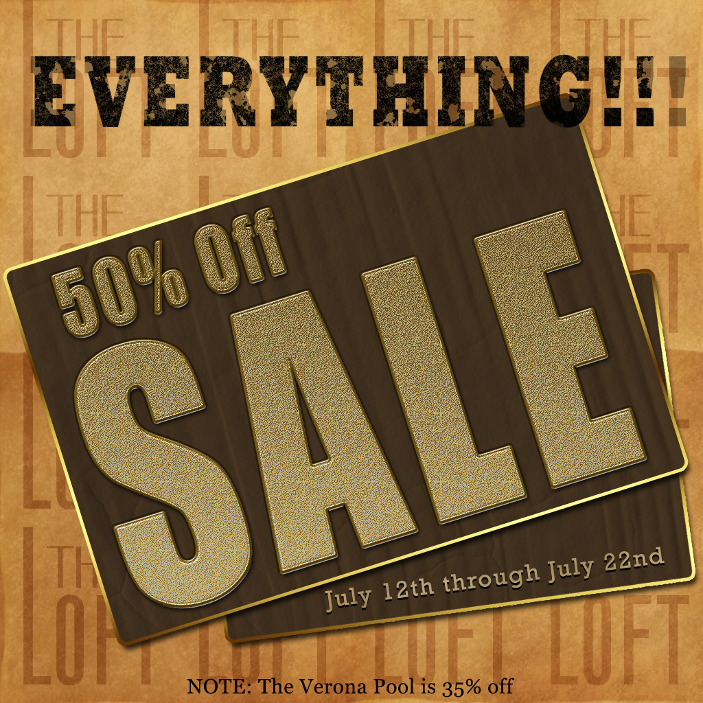50% off everything @ The Loft!!